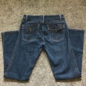 Calvin Klein Straight Leg Mid-rise Jeans